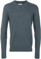 Maison Margiela elbow patch crew neck jumper - men - Cotton/Calf Leather/Wool - S