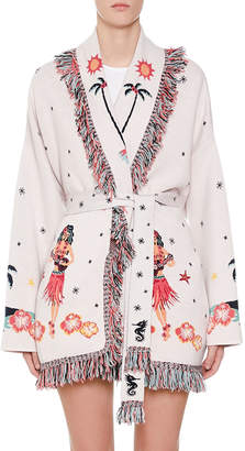 Alanui Hawaiian Map Jacquard Cardigan