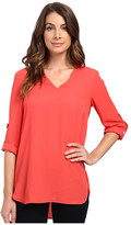 Karen Kane Roll Tab Shirttail Top