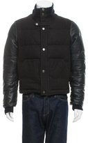 Valentino Leather-Contrast Puffer Jacket