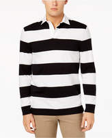 Club Room Men's Stripe Rugby Polo, Created for Macy's