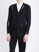 Alexander McQueen Laddered wool and silk-blend cardigan