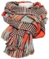 M RACLE Women's Retro Soft Plaid Tartan Grids Scarf Large Blanket Winter Wraps Shawl