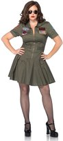 Leg Avenue Women's Plus-Size Licensed Top Gun Flight Dress