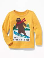 "Old Navy ""Junior Board Member"" Terry-Velour Sweatshirt for Toddler Boys"