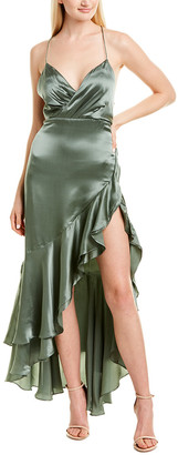 Fame & Partners Silk Maxi Dress