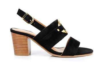 Les Tropéziennes Olalia Leather High-Heeled Sandals