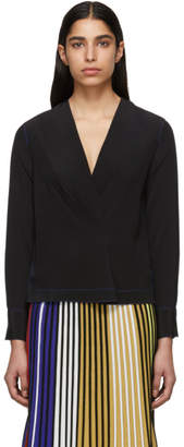 Rag & Bone Black Silk Shields Blouse
