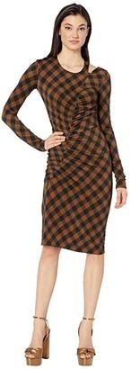 Preen by Thornton Bregazzi Alba Dress (Toffee Gingham) Women's Clothing