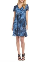 Karen Kane Quinn Tie Dye Burnout A-Line Dress