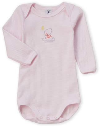 Petit Bateau Newborn Girls) Long Sleeve Bodysuit