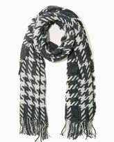 Charming charlie Oversized Houndstooth Blanket Scarf