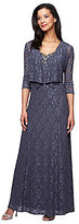 Alex Evenings Beaded Neckline Jacket Dress