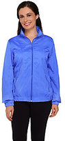 As Is Denim & Co. Golf Zip Front Windbreaker Jacket
