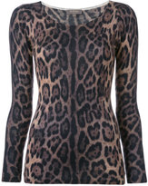 N.Peal cashmere super fine print top - women - Cashmere - M