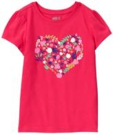 Crazy 8 Sparkle Floral Heart Tee