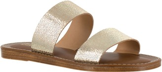 Bella Vita Leather Slide Sandals - Imo-Italy