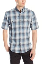 Wolverine Men's Ausbin Cotton Madras Short Sleeve Shirt