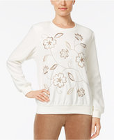 Alfred Dunner Embroidered Studded Sweatshirt