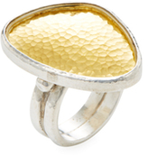 Gurhan 24K Yellow Gold & Sterling Silver Elements Amorphous Ring