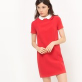 La Redoute Collections Peter Pan Collar Two-Tone Dress