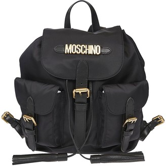 Moschino Buckled Logo Backpack