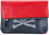 Loveless - foldover skull clutch - men - Buffalo Leather - One Size