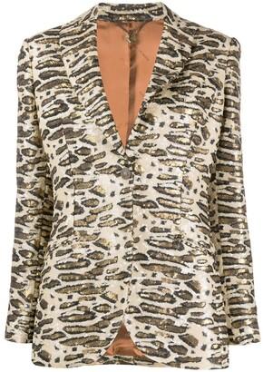 Maurizio Miri Sequinned Single-Breasted Blazer