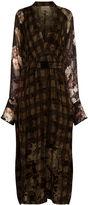 Preen by Thornton Bregazzi Green Check Floral Winona Dress
