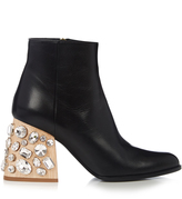 Marni Crystal-embellished block-heel leather ankle boots