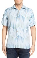 Tommy Bahama 'Chabis Chevron' Original Fit Silk & Cotton Camp Shirt