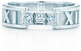 Tiffany & Co. Atlas ring in 18k white gold with diamonds