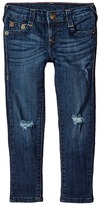 True Religion Casey Midnight & Gold Lurex Single End Jeans in Biker Blue (Toddler/Little Kids)