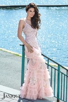 Janique - Extravagant Embellished Sweetheart Long Mermaid Gown JA3007