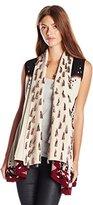 Gypsy 05 Women's Intarsia Sleeveless Drape Vest