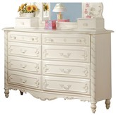 ACME Furniture Pearl Kids 8-Drawer Dresser - Pearl White - Acme