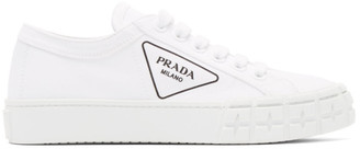 Prada White Gabardine Sneakers