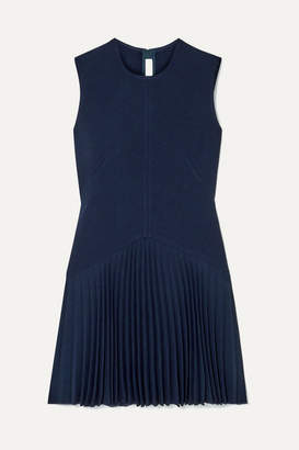 Dion Lee Annex Pleated Bonded Stretch-crepe Mini Dress - Navy