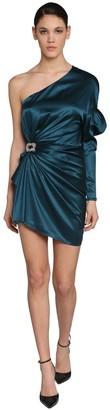 Alexandre Vauthier One Shoulder Stretch Satin Mini Dress