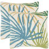 Safavieh 2-piece Tropical Flower Outdoor Throw Pillow Set