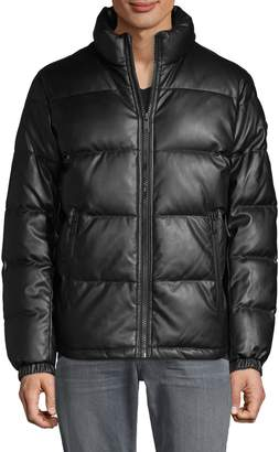 DKNY Quilted Stand-Collar Jacket