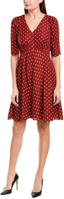 Rebecca Taylor Smocked Silk-Blend A-Line Dress
