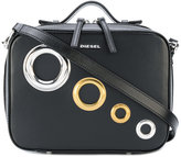 Diesel oversized eyelets crossbody bag - women - Calf Leather - One Size