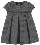 Mayoral Dotted Short-Sleeve Dress, Size 3-7