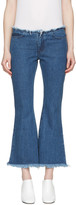 Marques Almeida Blue Flared Capri Jeans