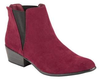 Portland Boot Company Women's Faux Suede Booties with Double Gore