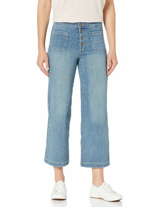 William Rast Women's Misses High Rise Wide Leg Cropped Jean 25