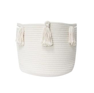 Twig + Tassel Natural Tassel Basket - Medium