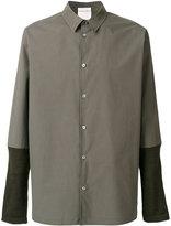 Stephan Schneider contrast sleeve shirt
