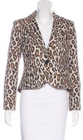 Alice + Olivia Leopard Print Tweed Blazer